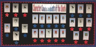 Student of the Month Bulletin Board